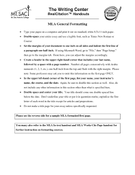 006 Mla Format Essay Heading Writing Tricks How To Set Your Paper In