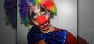 dark clown makeup photo 3
