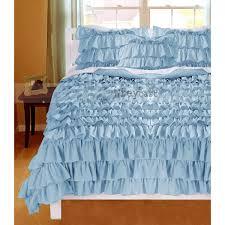 luxuries light blue 1000tc ruffle duvet cover
