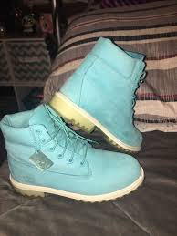 Light Blue Timbs 6 Inch Classic Timberland Boots Size Womens 8 Mens 6
