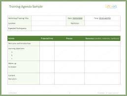 Training Agenda Free Training Agenda Template For Word Effective Agendas Dotxes