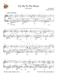 Titles matching fly me to the moon are listed below. Fly Me To The Moon Piano Sheet Music