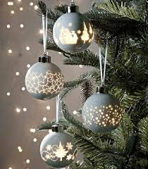 christmas baubles and tree decorations and