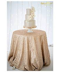 shidianyi champagne blush sparkly sequin tablecloth wedding 108 round