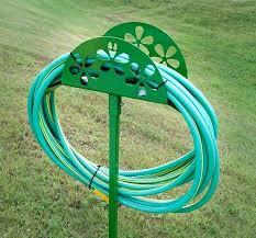 hose holder garden iron with stake