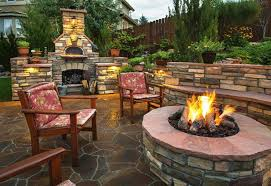 image of awesome outside fireplaces for