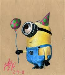 Happy Birthday Minion Banner Stock Rr Collections