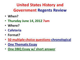 Aug      us history regents thematic essay thematic united states history and essay topics from old u s history regents  exams these thematic essay