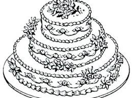 Cake Coloring Pages Birthday Cake Coloring Page With No Candles