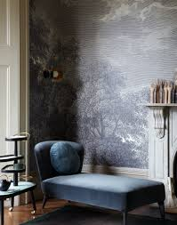 Modern Living Room Wallpaper Transform Your Living Room With Statement Wallpaper The Room Edit