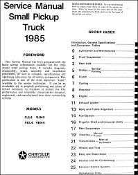 dodge ram wiring diagram image wiring 1985 dodge ram 50 truck repair shop manual original on 1985 dodge ram wiring diagram