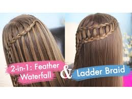 Hairstyle Waterfall feather waterfall & ladder braid bo cute 2in1 hairstyles 2029 by stevesalt.us