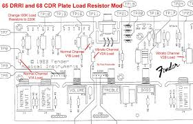 ab763 mods for the 65 deluxe reverb reissue 68 custom deluxe reverb you would change out v1a load resistor r4 v1b r11 v2a r16 v2b r29 the circuit board has these