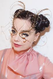 her makeup was done by ana todua georgian makeup artist it turned out that bjork really likes all the looks that she creates