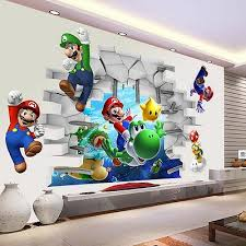 super mario 3d kids nursery removable