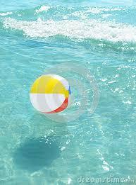 Plain Beach Ball In Ocean Floating Potential Horse Inside Inspiration