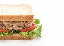 Tuna Sandwich On White Photo Premium Download