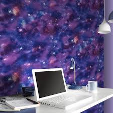 Purple Wallpaper Bedroom Boys Teenager Student Bedroom Wallpaper Wall Decor Space Camo