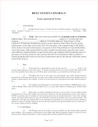 lease contract template rent contract templates