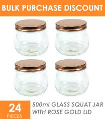 small glass jars with lids x rose gold squat small glass jars with lid e canister