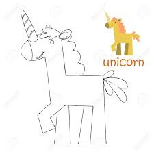 coloring book for kids coloring page unicorn stock vector 91202196
