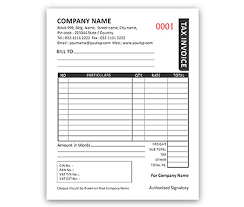 Book Invoice Beauteous Bill Book Design For Invoice A48 Offset Or Digital Printing