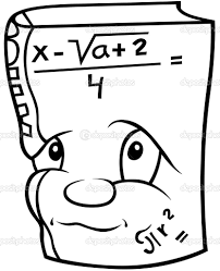 free math book clipart image