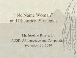 "no w "" and rhetorical strategies mr josefino rivera jr  1 ""no w """
