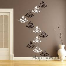 art damask wall sticker decorative flower wall decal removable wall stickers modern decor living room p52 in wall stickers from home garden on  on damask sticker wall art with art damask wall sticker decorative flower wall decal removable wall