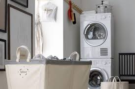 Brilliant small functional laundry room decoration ideas Washer Dryer Utility Room With Stacked Waher And Dryer Crate Barrel Utility Room And Laundry Loveproperty 36 Brilliant Utility And Laundry Room Ideas Lovepropertycom