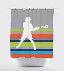 Sports Bathroom Accessories Orange Shower Curtains And Accessories