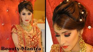 bridal hairstyle for indian wedding