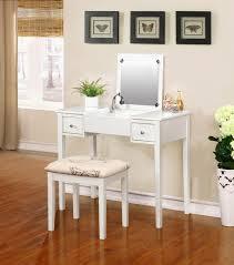 Amazon Linon Home Decor Vanity Set Butterfly Bench White