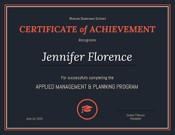Free Online Printable Certificates Of Achievement Venngage The Online Certificate Maker