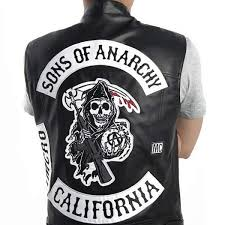 senarai harga sons of anarchy vest leather rock punk vest sons of anarchy embroidery costumes harley motorcycle sleeveless jacket cosplay terbaru di