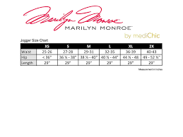 Monroe Size Chart Medichic Marilyn Monroe Mm1401 Womens Jogger With Zipper Side Pocket Scrub Pant