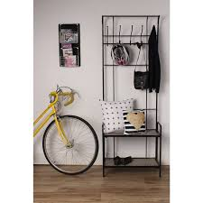 Free Standing Coat Rack With Shelf Thetford Free Standing Entryway Metal Coat Rack With Wood Shelves 68