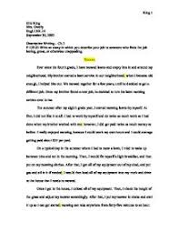 write an essay in which you describe your job to someone who finds  page 1 zoom in