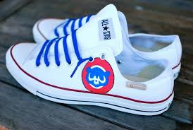 converse 11. custom hand painted converse-- chicago cubs on chuck taylor all star low top sneakers converse 11 t