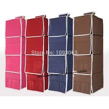 marvelous design fabric hanging shelves hanging storage bags closet wardrobe shelf stackable foldable full