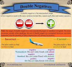 9 best Grammar - Double Negatives images on Pinterest | Double ...