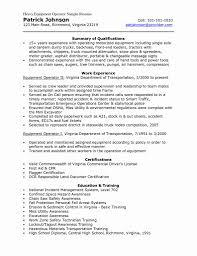 Best Of 38 Sample Heavy Equipment Operator Resume