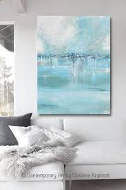 blue grey and white wall art