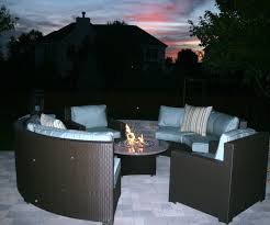 Patio Ideas Gas Fire Table In Design Of Set With Pit And Chairs Home