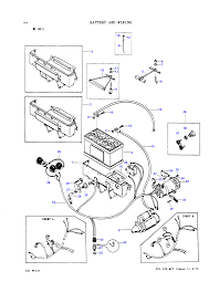 Battery and wiring diesel with generator used prior to machine