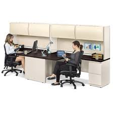 Alloy Two Person J-Desk Workstation - 13919 and more Lifetime Guarantee