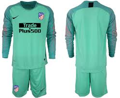 Jersey Sleeve Atletico Soccer Madrid Green 19 2018 Long Goalkeeper