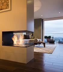 apartments beautiful bespoke double sided fireplace for modern in modern 3 way fireplace