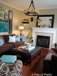 Living Room Design Ideas Blue Brown And Home Interior