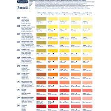Pastel Color Code Chart Schmincke Soft Pastel Colour Chart